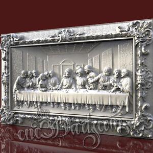 3D STL Model Jesus Panel CNC Router Carving Machine Artcam aspire Cut3D Vcarve