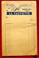 CARNET FACTURE : SAVON LA FAUVETTE MARSEILLE   !