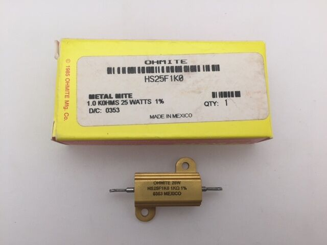 Silicone Coated 10 Watt 3K Ohm 5/% Resistor Wirewound 10 pcs 40J3K0 Ohmite