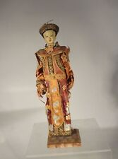 Antique Chinese EMbroidered Doll EMpress Opera Puppet Fine Silk Robes As Is