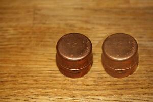 2 x 28mm solder ring stop end copper fittings plumbing. Black Bedroom Furniture Sets. Home Design Ideas