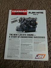 Yanmar Marine Diesel Engine 4JH-HTE Dealer Sales Brochure Sheet Specifications