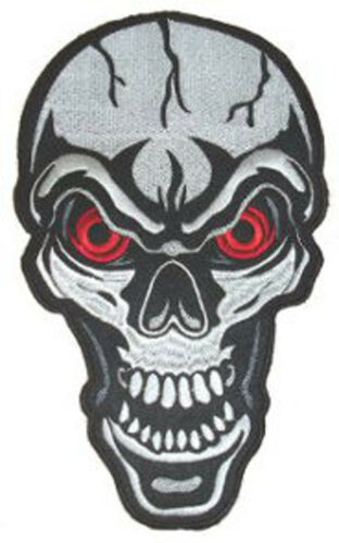 "RED EYED SKULL BACK PATCH 16CM X 25CM  6/"" X 10/"" Sew on"