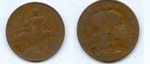 **gertbrolen 10 Centimes Type Dupuis 1905 Année Rare