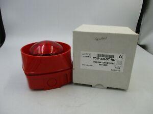 Conventional IP65 Sounder Red Gent Vigilon C3IP-SN-R