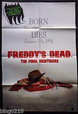 FREDDYS DEAD THE FINAL NIGHTMARE ON ELM STREET ORIG 1991 CINEMA 1 SHEET POSTER