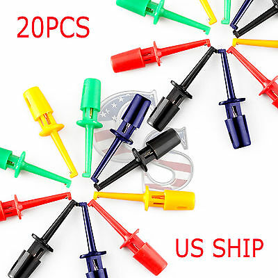 6Pcs Multimeter Lead Wire Kit SMD IC Hook Test Clip Probes Cable