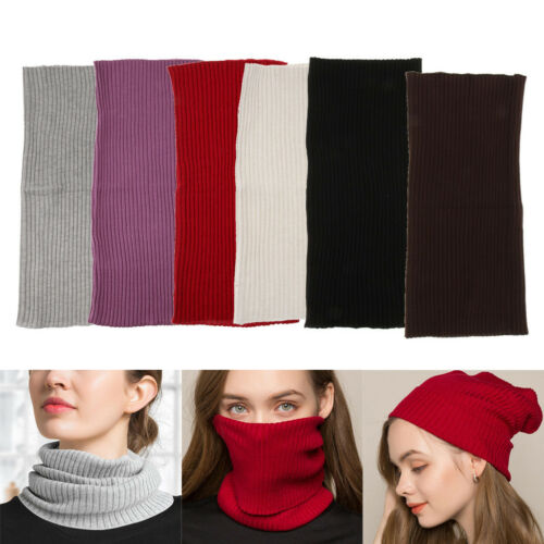 Silk Multi-Purpose Bandana Tube Knit Face Mask Neck Warmer Bike Ski Snood