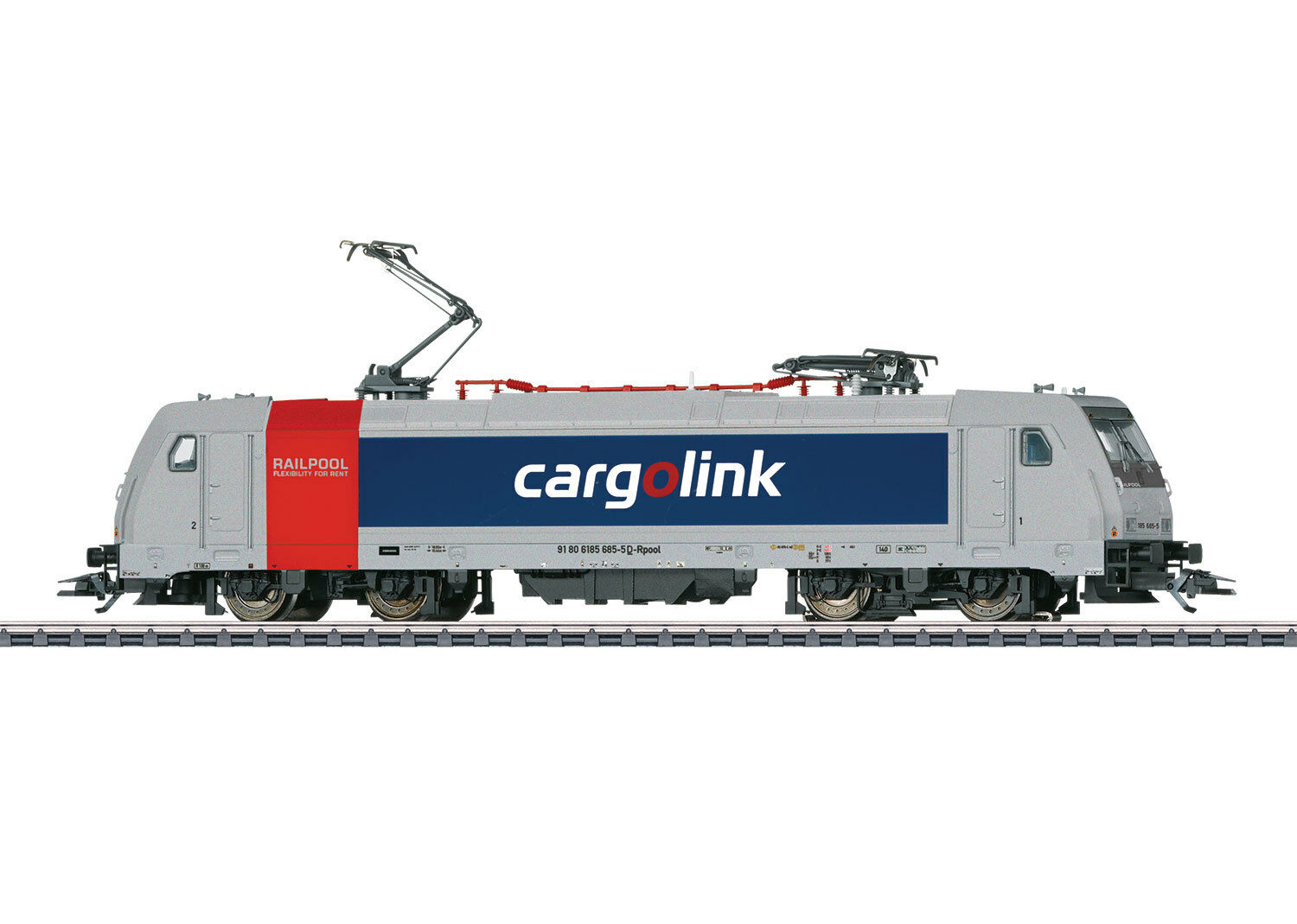36633 MARKLIN HO Electric Loco CL 185.6 Cargolink, Norway mfx digital sounds NEW