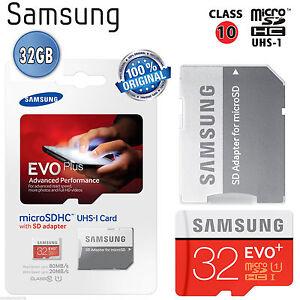 MicroSDXC-32gb-80mb-s-Classe-10-Originale-Samsung-Memoria-EVO-Plus-UHS-1-Microsd