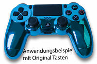 Neu Playstation Ps4 Controller Case Hülle Gehäuse Chrome Modding Cover Blau