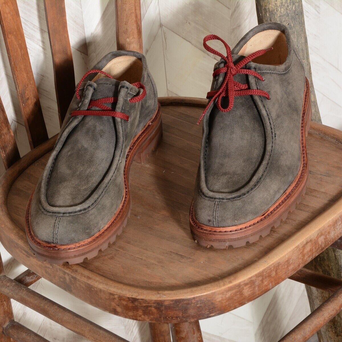 LO.bianca scarpe uomo 28906 stringate in pelle scamosciata Coloreeeeee grigio-lavagna