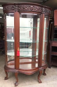 Ordinaire Image Is Loading R J HORNER CARVED MAHOGANY BEVELED GLASS CHINA CABINET