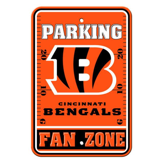 4cdeaaa37 NFL Cincinnati Bengals Home Room Office Bar Decor Parking Sign Fan Zone ...