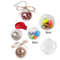 20x Clear Transparent Plastic Craft Balls Christmas Decoration Baubles