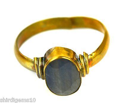 4.25 Ratti/3.92Ct Natural Blue Sapphire Gemstone Astrological Ring Ebay