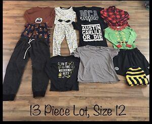 Boys-Clothing-Lot-13-Items-Size-12-Wondershop-Carter-s-Pjs-Sweats-Shorts
