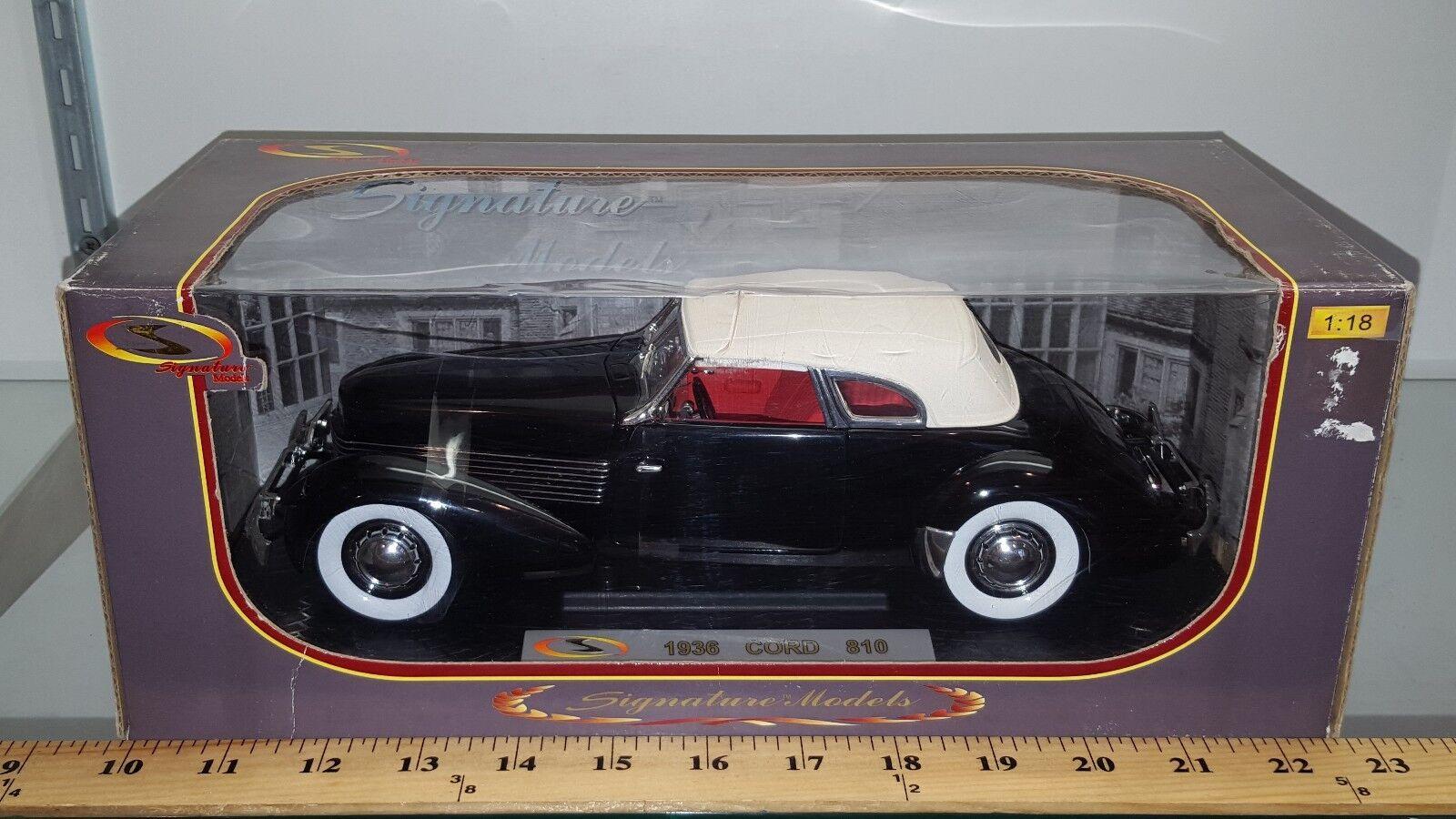 1 18 modelos de firma Cable de 1936 810 nero Con biancao Top YD