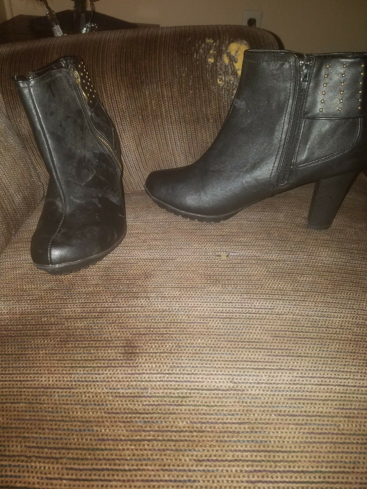 Black ankle boots boots boots womens size 10 371263
