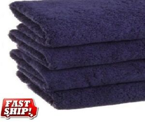 3 new navy blue cotton hotel 30x60 10# bath sheets large bath towels absorbent