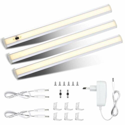 3 LED Unterbauleuchte Lichtleiste 1200LM Warmweiß Dimmbare Schrankleuchte Sensor