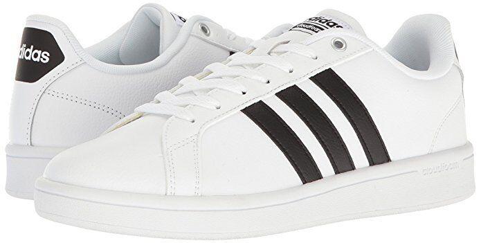 Men Adidas Cloudfoam Advantage Fashion Sneaker AW4294 color White Black New