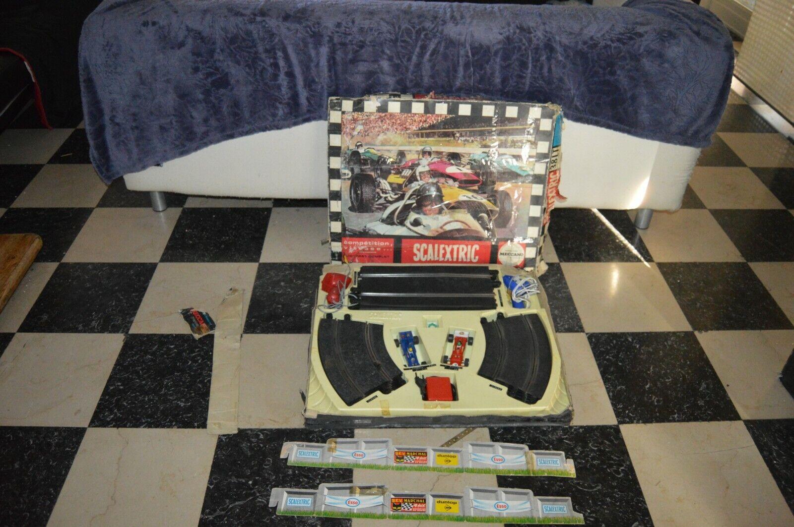 Antico Circuito Scalectrix Meccano 38 Lt Ferrari C C C 29 Tyrell C divertimentozionante Slot f80cc4