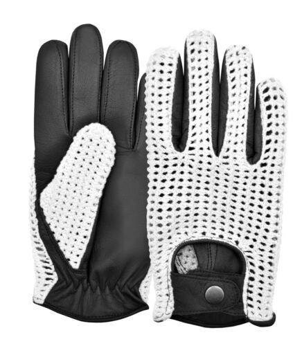 MENS CLASSIC VINTAGE TRADITIONAL ENGLISH DRIVING GLOVES FASHION LEATHER RETRO