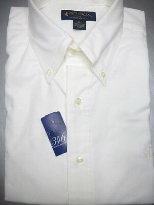 Brooks Brothers Oxford BD Collar White Shirt GF Logo NWOT XL Extra Large New USA