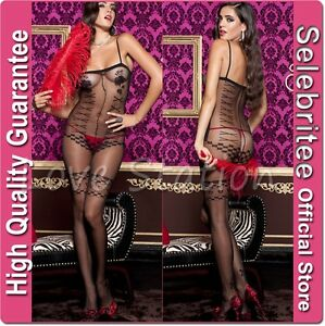 Sheer-Bodystocking-Open-Crotch-with-Teddy-Stocking-Pattern-Selecbritee-C123
