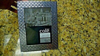 Brand New Cole Street Fine Crafted 5x7 Picture Frame Photo Silver Shiny Tiled Ebay