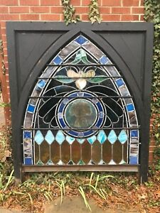 Large Antique Stained Gl Window Ebay