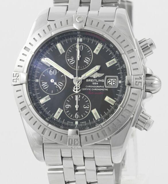 BREITLING Chronomat Evolution A13356 Wrist Watch Rare Chocolate Brown Dial