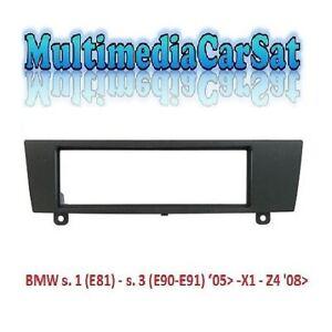 MASCHERINA-1-DIN-AUTORADIO-BMW-s-1-E81-s-3-05-X1-Z4-NERA-ADATTATORE-3-321