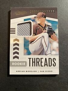 2020 PANINI ABSOLUTE ADRIAN MOREJON ROOKIE THREADS JERSEY Relic San Diego Padres
