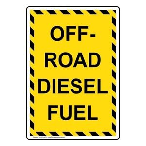 Details about ComplianceSigns Vertical Vinyl Off-Road Diesel Fuel Labels, 5  x 3 50 in