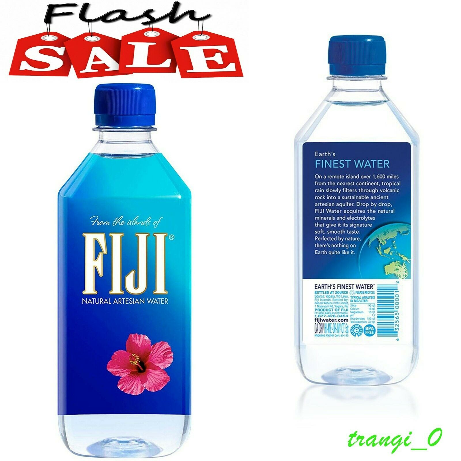 Fiji Natural Artesian Water 16 9oz Pack Of 24 Bottles