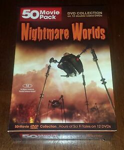 Nightmare Worlds - 50 Movies DVD 12 disc boxed - MANSTE