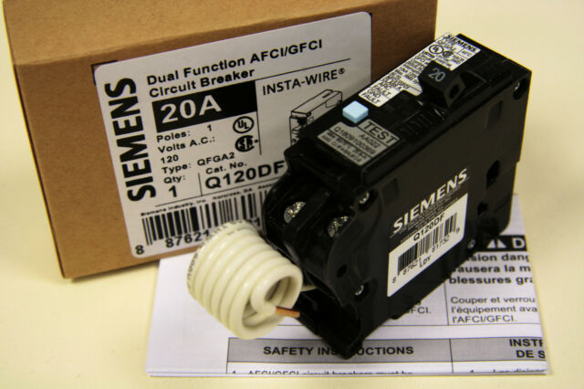 Siemens Q120df Dual Function Circuit Breaker 20 Amp For Sale Online