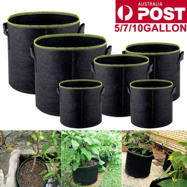 5/10pack Black Fabric Grow Pots Breathable Planter Bags 3,5,7,10Gallon Smart Bag