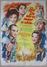 Filmplakat / movie poster EA A1 Bei Dir war es immer so schön  Hans Wolff