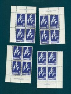 Canada-415-Geese-in-Flight-Set-of-4-Blocks-Plate-2-1963-MNH