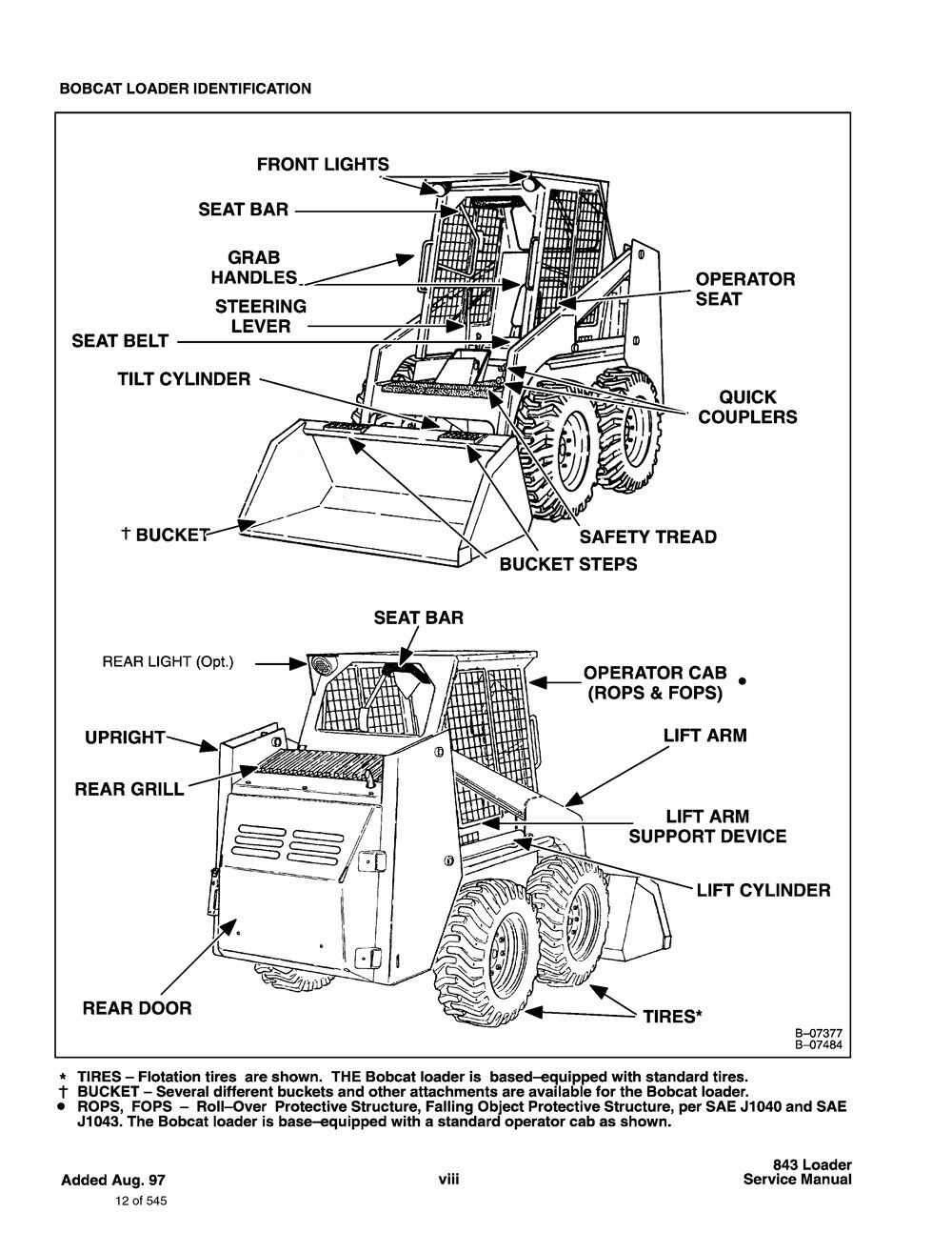 bobcat 843 843b printed bound skid steer repair service manual 1985 rh ebay com Bobcat 753 Hydraulic Diagram Bobcat 753 Hydraulic Diagram