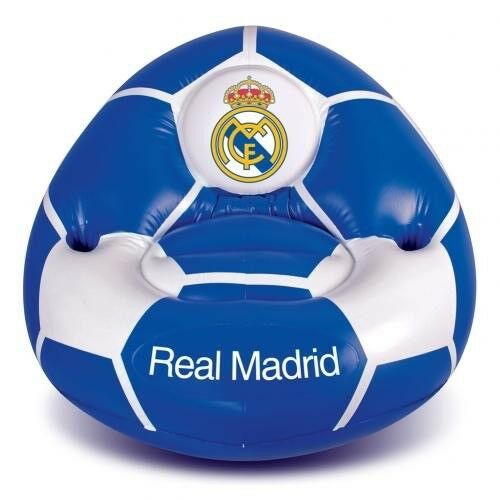 Real Madrid Football Club Inflatable Chair with Drinks Holder Free UK P&P