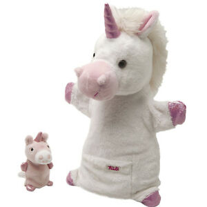 Marioneta-Trudi-Unicornio-con-cachorro-cm-28-De-calidad-superior-made-in-Italy