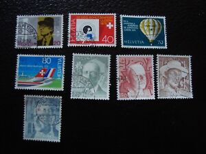 Switzerland-Stamp-Yvert-and-Tellier-N-1076-A-1083-Obl-A3-E