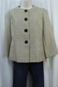 Evan Picone Suit Jacket Sz 6 Champagne Multi Park Avenue Woven Business Blazer