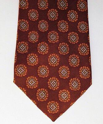 Floral tie H W Brettell all silk printed pattern Vintage 1950s 1960s