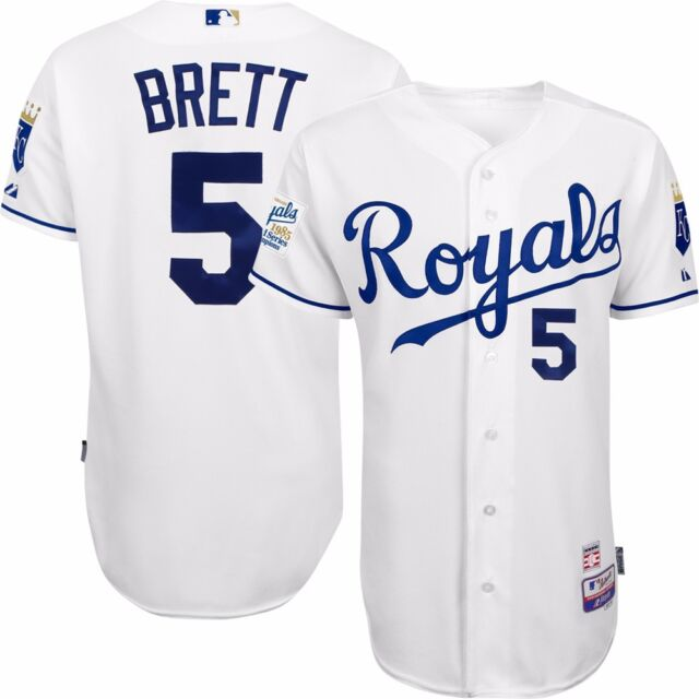 474433a55 George Brett Authentic 1985 World Series KC Royals 30th Anniv Cool Base  Jersey