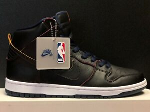 san francisco 52740 7ee96 Details about NEW NIKE SB DUNK HIGH PRO NBA BLACK/BLACK-COLLEGE NAVY